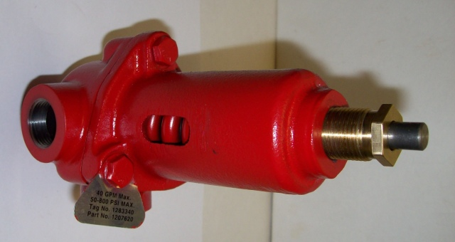 1251512, 1207622  Rel. Valve   40 GPM x 50-850 psi Size & Fit Guide