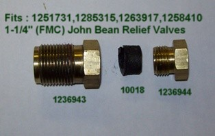 FMC JOHN BEAN 1236944 Damper Nut As Seen In...