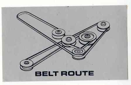 Dixie Chopper Decal Dc65422 Belt Routing