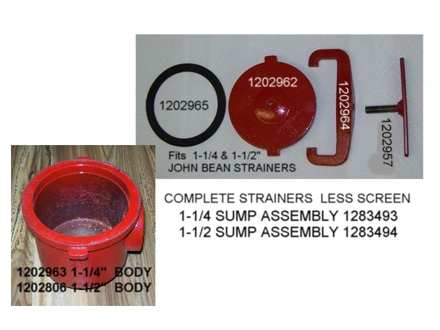 STRAINER 1283493 BEAN 1-1/4 NPT  STAR TYPE Size & Fit Guide