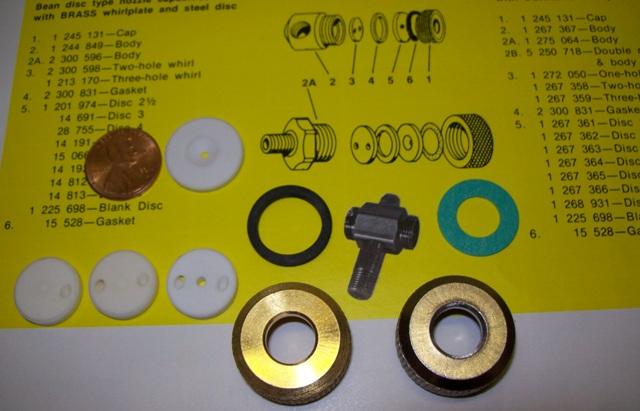 JOHN BEAN CERAMIC Nozzle Whirl plates   Size & Fit Guide