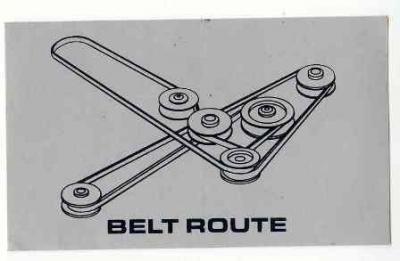 DIXIE CHOPPER Decal DC65422 Belt Routing