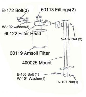 EaBP90 AMSOIL Engine Oil FILTER DIXIE CHOPPER # 60119